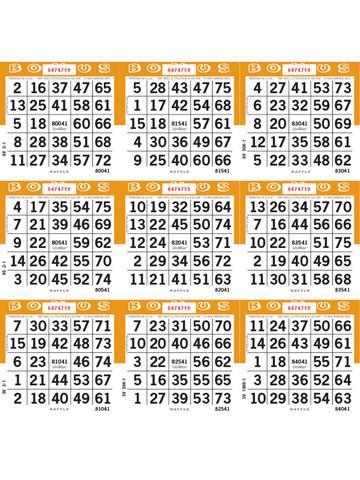 unimax 9on loose 1 9 000 series raffle paper orange