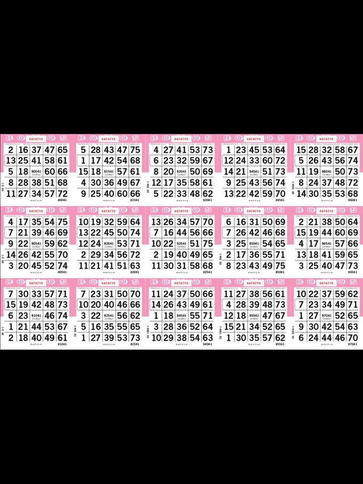 Unimax 15on Loose 1-9000 Series Pink Raffle