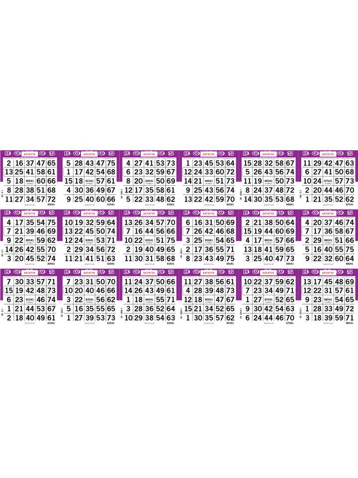 Unimax 18on Loose 1-9000 Series Purple Raffle