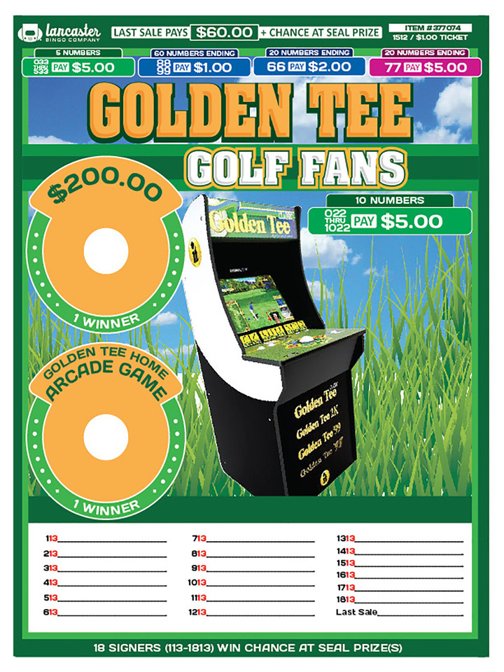 Golden Tee Arcade Game 1512
